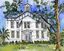 Old Schoolhouse Painting
